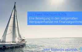 """""""123 Invest Wachstum 8,25%"""" – Gesamturteil: Sehr gut"""